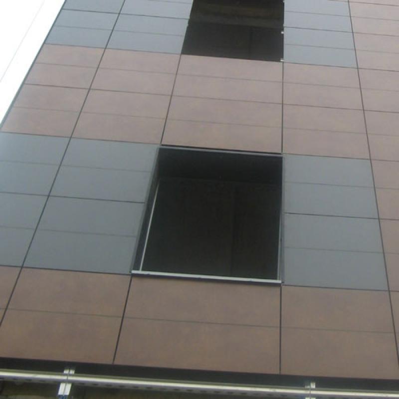 Отделка фасада HPL панелями