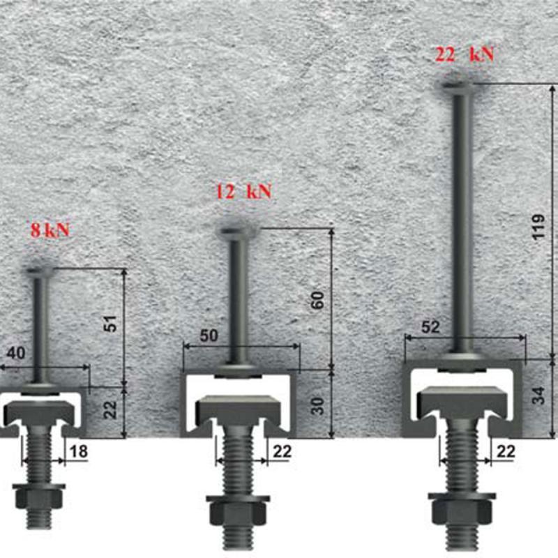 Рельсовые фасадные системы